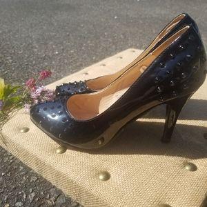 """Torrid patent studded heels 9- 4""""heel"""